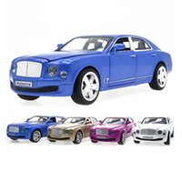 auto model collection - Bentley Mulsanne Luxury Diecast Alloy Toy Metal Cars Scale Pull Back Acousto optic Auto Model Boy Collection Vehicles Model