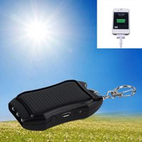 Wholesale Newest mAH Solar Keychain Solar Charger Mobile Power Supply Energy Saving Charger Battery Power Bank For Cellphone Promotion