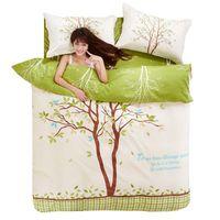 bedroom sheet set - 3pcs Cotton Bedding Set Bed Sheets Sets King Size m m Duvet Cover Cozy for Adults Kids Bedroom Dropshipping