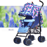Wholesale Baby Stroller Ultra Light Four Wheel Boarding Folding Children Poussette Baby Stroller Car Kid Carriage Portable Travel Colour
