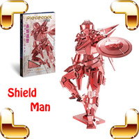 Wholesale New Arrival Gift Shield Man D Metal Model DIY Super Hero Model Figure Assemble Alloy Toys Collection Decoration IQ Game
