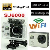 Wholesale SJ6000 WiFi Action Camera MP Cam DV LCD Helmet Mini Sport Video Camera Car DVR Camcorder M Waterproof GoproStyle Video Recorder