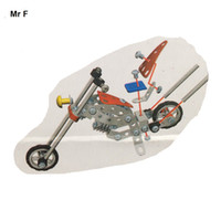 Wholesale 103 Metal Puzzle DIY Assembling Magical Model Motorcycle DIY Blocks Building Toys Kids