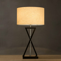 Wholesale E27 creative bedroom bedside lamp room became modern minimalist fashion personality iron lamp Table Lamps commercial lighting