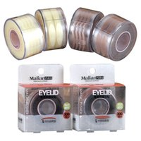 Wholesale Malian Eyelid tapes lace mesh nude hide eyelid tape makeup beauty big eyes a box pair DHL for free I201651708