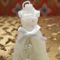 Wholesale Fashion White Beauty Bridal Bride Shape Candle Wedding Party Favorite Home Decoration Accessories White