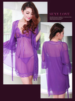 adult sleep suits - Upscale big yards fat lady lace sexy lingerie transparent pajamas suit real uniforms Contains Adult Sao