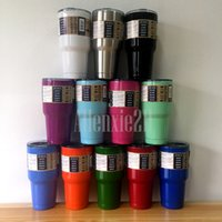 Wholesale 2016 Hot Sell Colors Mix Order Yeti Rambler Tumbler oz Colored Travel Vehicle Mug Vacuum Insulated Stainless