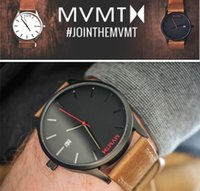 Wholesale Top Brand MVMT Men Watches New Cool Men Leather Strap Military Sport Quartz Analog Watches