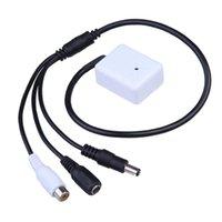 achat en gros de son hight-Hight Qualité CCTV Mic Microphone Son Pick-Up Monitor Voix Audio Sécurité White FC