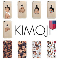 gros téléphone caes achat en gros de-Kimoji Fashion Cell Phone Cases Transparent TPU Soft pour Apple iPhone 5s 6 6s 7 Plus Caes Wholesale DHL Free