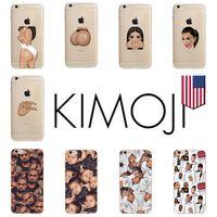 achat en gros de caes téléphoniques de gros-Kimoji Mode téléphone cellulaire cas transparent TPU souple pour Apple iPhone 5s 6 6s plus Caes gros DHL gratuit
