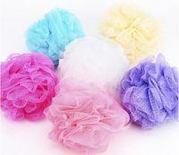 bath gel balls - Low Price Foreign Trade Hot Sale Mesh Sponge Bath Ball Sponge Bath Flower Milk Shower Gel Special Loofah