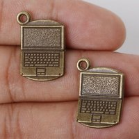 antique computer - New New Arrival x15mm Antique Bronze Metal Pendant Computer Charms Jewelry Findings Accessories for DIY jewelry making