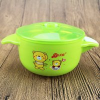 baby silicon - Mothers And Kids supplies Baby Stainless Steel Bowls Hot Water Injection Bowls with Silicon Base