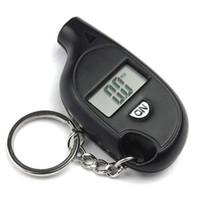 Wholesale Mini Keychain LCD Digital Screen Tire Pressure Gauge Universal LCD Display Digital Air Pressure Gauge for Car Truck Bike