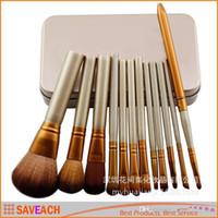 Cheap N3 Professional 12 PCS Cosmetic Facial Make up Brush Tools Makeup Brushes Set Kit With Retail Box