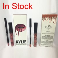 Wholesale Kylie Lip Kit by Kylie jenner Lip gloss levres Liquide Kylie Mattle lipstick Liquidos color Candy K Dolce K Koko K