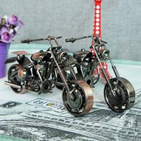 antique motorcycle works - The new fashion selling Wrought iron car motorcycle models Metal handicraft furnishing articles