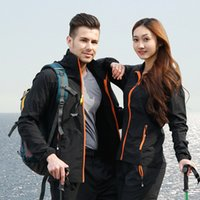 Wholesale Men Summer sports Coats Hooded Outing Mountaineering Clothes Sunscreen Tops Sportswear Outdoor Climbing Tracksuits Waterproof