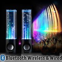 Wholesale LED Dancing Water Wireless Bluetooth Stereo Speaker Mini Speaker for iPhone iPad Computer Laptop