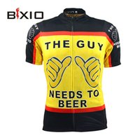 beer pro - The Guy Needs To Beer Funny Cycling Jersey Short Sleeve Yellow Cycling Clothing Pro Team Compressed Bike Clothing BX Y035