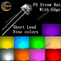 orange red led - F5 Straw Hat LED Diodes Utra Bright mm short Lead Red Green Blue Yellow Orange Pink Purple White Warm white