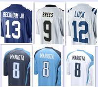 Wholesale Men s Limited Jerseys Odell Beckham Jr Drew Brees Andrew Luck Marcus Mariota Stitching Embroidery jersey top quality