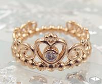al por mayor el encanto de breca princesa-2016 nueva plata europea Estilo Pandora encanto de la joyería chapado en oro rosa Mi princesa con el anillo de CZ transparente