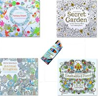 big color pages - 12 Color Pencils pages English Secret Garden Coloring Books For Adult Hand drawn Relieve Stress Graffiti Painting Libros b305