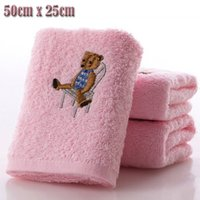 Wholesale New cotton sweet candy colored cartoon baby Towel soft coral fleece kid child wipe sweat hung towel Kitchen Bathroom Use