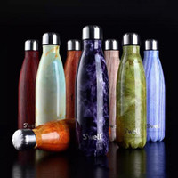 Wholesale Swell Bottle Fashion S well Bottle Stainless Steel Vacuum Flask Cup Swell Sports Mugs Cup Cool Drinking Coke Thermos Bottle ml