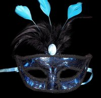 beautiful christmas gift - Venice Party Masks Cute Beautiful Lace Feather Mask Colour Face Mask Hallowmas Christmas Gift New Style