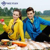Wholesale milvian outdoor sport men and women s sweater cotton polyester stand collar running jerseys