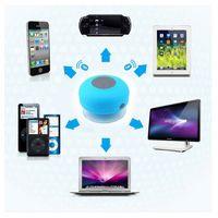 Wholesale Universal Waterproof Handsfree Receive Call Speaker Wireless Mini Round Speaker Portable Bluetooth With Home Theatre Function
