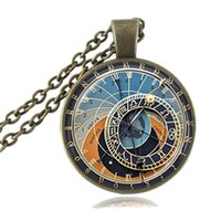 astronomy astrology - Zodiac Clock Necklace Astrology Pendant Constellation Jewelry Astronomy Horoscope Necklace Long Chain Sweater Necklace Gift for Her of Him