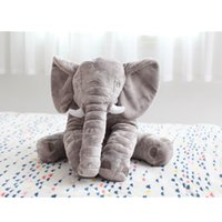 animal bedding for kids - 60cm Fashion Baby Animal Elephant Style Doll Stuffed Elephant Plush Pillow Kids Toy for Children Room Bed Decoration Toys