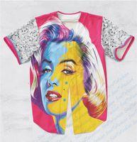baseball diamond size - Real USA Size Custom made Fashion Marilyn Monroe x Diamonds D Sublimaiton Print Unisex Baseball t shirt Plus Size