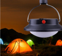 Wholesale Portable LED Camping Outdoor Light Rechargeable Tent Umbrella Night Lamp Lighting Modes