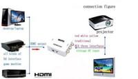 Wholesale HDMI2AV P HD Video Adapter mini HDMI to AV Converter CVBS L R HDMI to RCA DHL