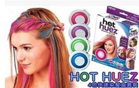 Wholesale 4 colors Hot Huez Dye hair powdery cake Temporary Hair Chalk Powder Craze Soft Pastels Salon Party DIY Hair Colors D862