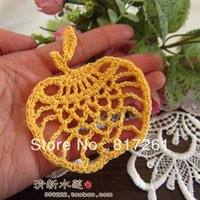 apple coaster - pic new lace doilies mat IKEA tableware dinning table decoration vase pad cup mat coaster apple shape