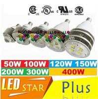 Wholesale E27 E40 Hook Led Retrofit Bulb W W W W W W W Led High Bay Lighting Replace Halogen Lamp Hall Lights