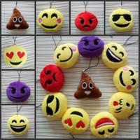 bag emoticon - 2016 Fashion Hot Cute Emoji Smiley Emoticon Amusing Key Chain Soft Toy Gift Pendant Bag Accessory