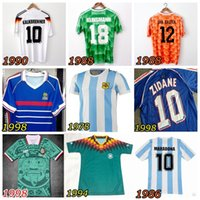Wholesale High quality Retro Vintage Netherlands Klinsmann soccer jersey Mexico soccer jersey Argentina football retro shirt sport clothes jersey