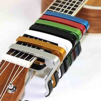 aluminium straps - Classic Folk Acoustic Electric gita capotraste Aluminium alloy Guitar clip durable Guitar strap lock Trigger Guitar Capo Key Clamp EaMZu Gui