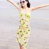 Wholesale Swimwear summer beach shawl wrap Colorful Sheer Chiffon Cover up Wrap Beach Bikini Shawl Floral Scarf Dresse