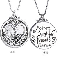 american reunion - Family reunion necklace Charm Pendant Necklace mother daughter Best Friends forever letter pendant heart Christmas Gifts For Women