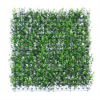 Wholesale 12 Pieces cm x cm Artificial Plants Wall Garden Decoration Artificial Boxwood Hedge Fake Ivy Fence
