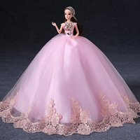 baby doll evening dresses - cm Pink Girl Toy Luxury Evening dress Big Barbie Doll
